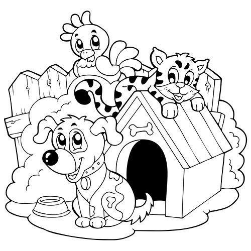 19 dessins de coloriage chien et chat imprimer - Chien coloriage ...