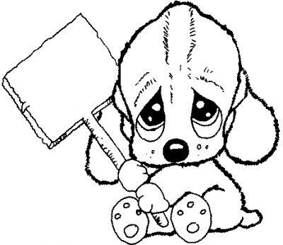 Coloriage chien a trois tete - Dessin tete de chien ...