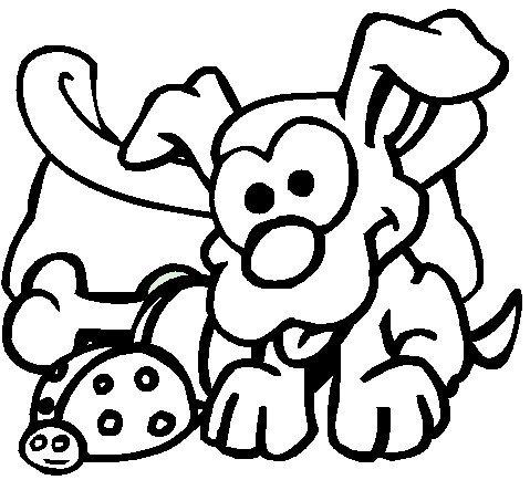 coloriage chien avec laisse