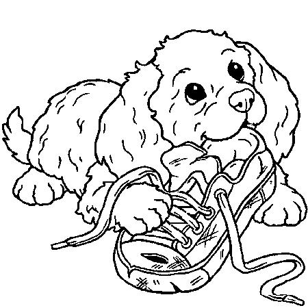 coloriage de chien à imprimer hugo l'escargot