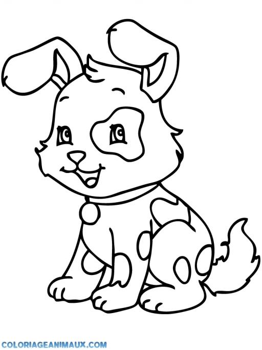 Coloriage chien gratuit a imprimer - Coloriage de chien ...