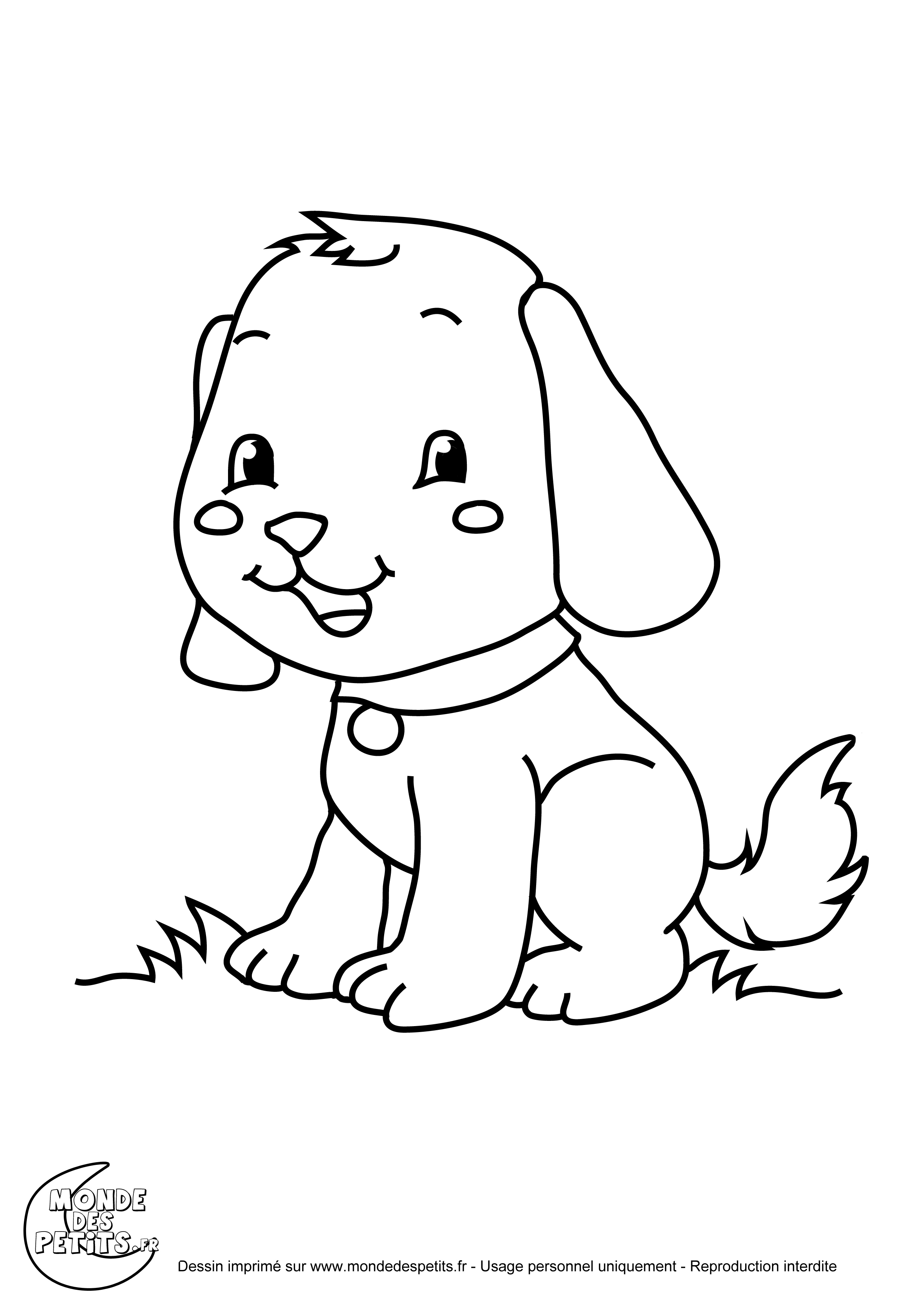 Coloriage le chien - Coloriage de chien boxer ...