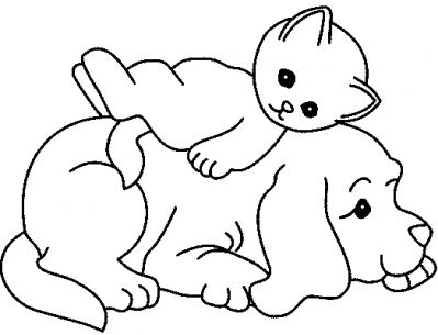 coloriage courage chien froussard