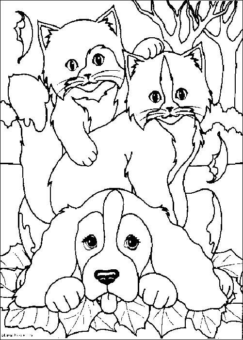 coloriages chiens et chats à imprimer