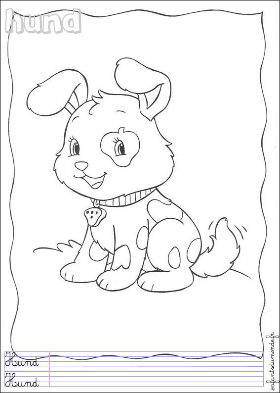 coloriage chien à imprimer gratuit