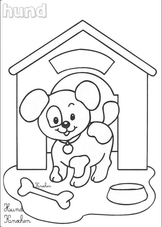 coloriage tv chien