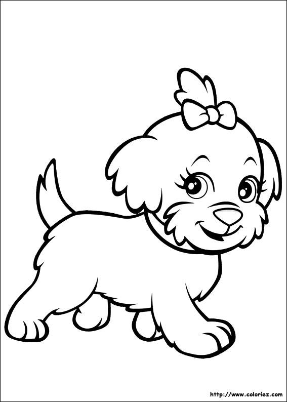 coloriage chien mira
