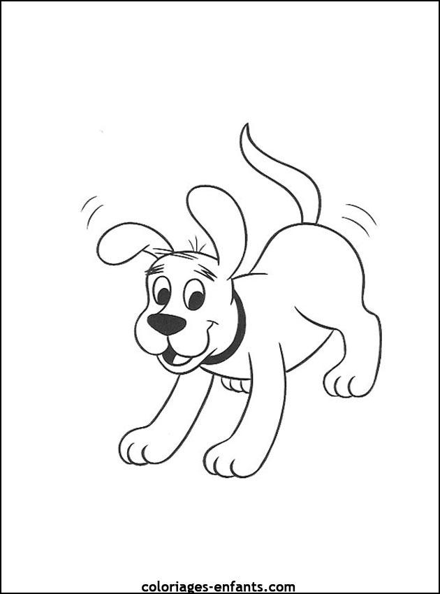 coloriage chien sur ordinateur