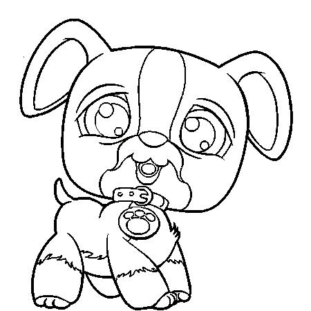 Coloriage de chien facile a dessiner - Photo de chiot a imprimer ...