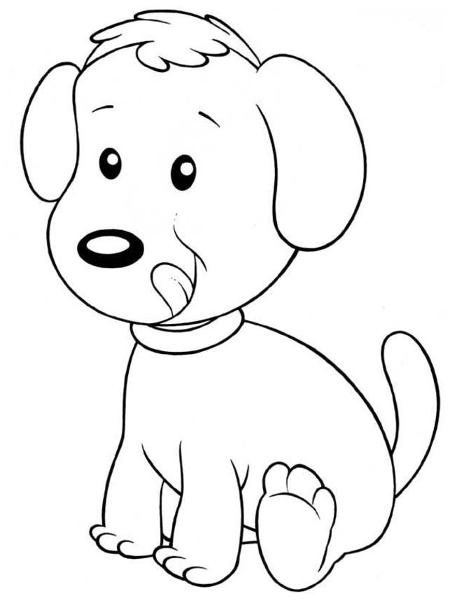 Coloriage de chien facile a dessiner - Dessin d un chien ...