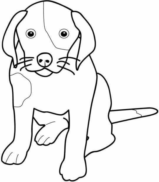 coloriage de chien facile a dessiner