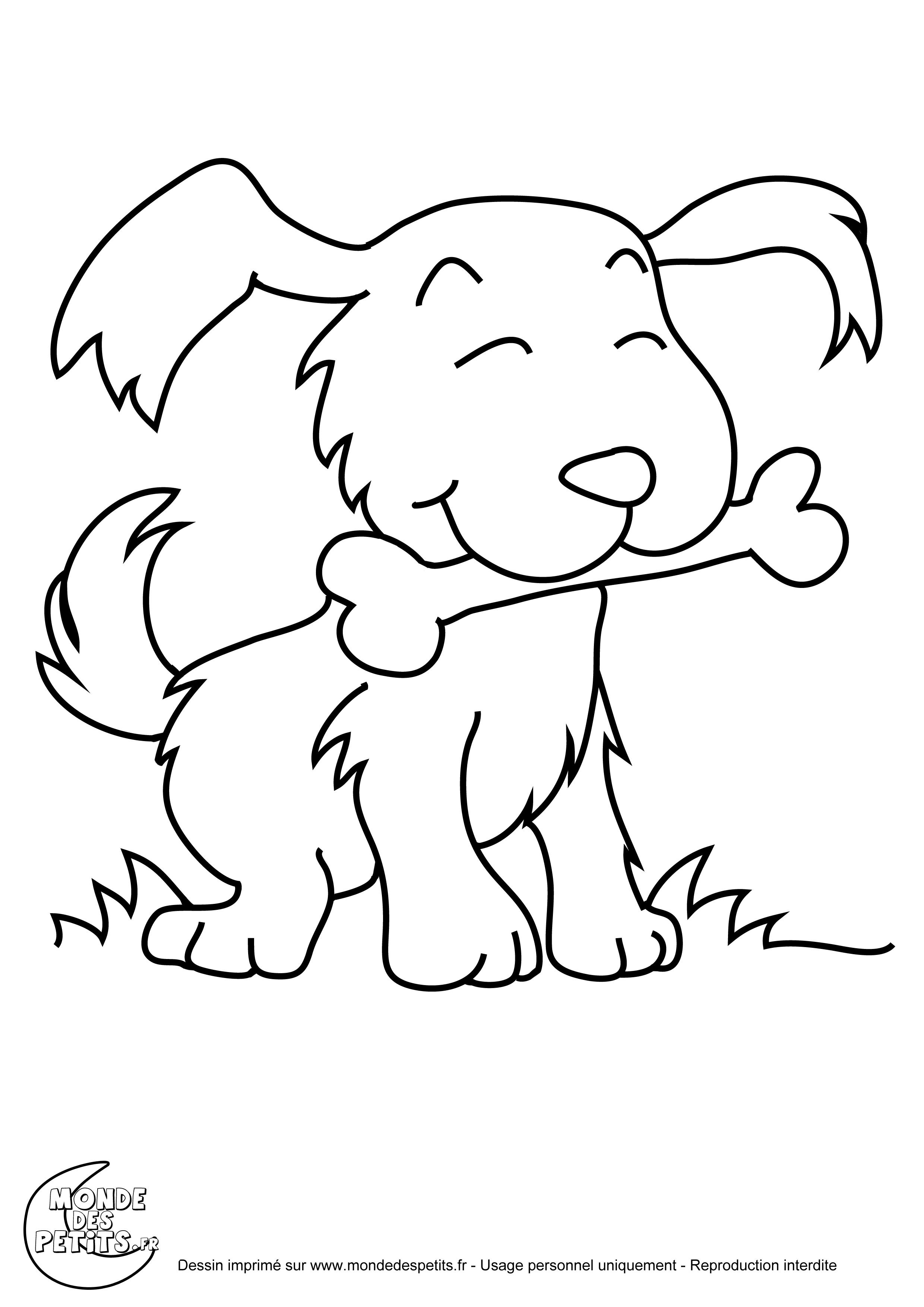 coloriage chien gratuit a imprimer