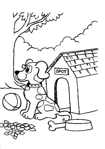 coloriage chien policier imprimer