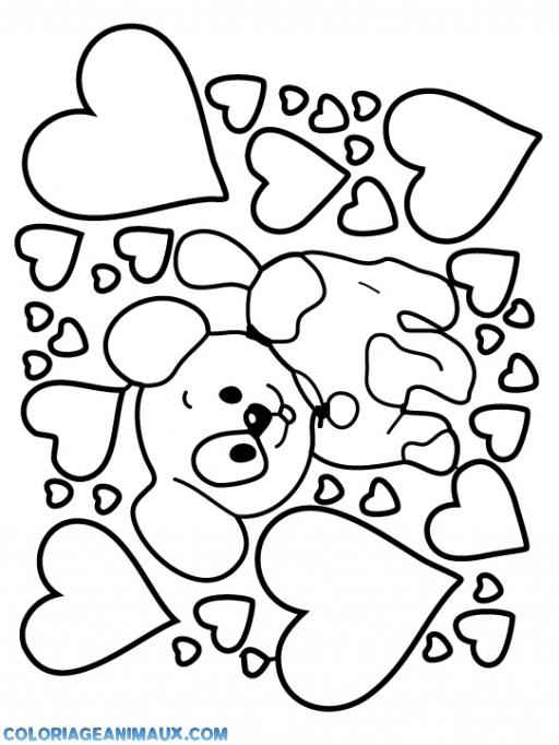 Coloriage le chien - Coloriage de chiot a imprimer ...