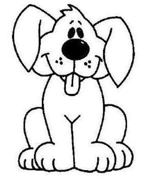 coloriage chien trop mignon