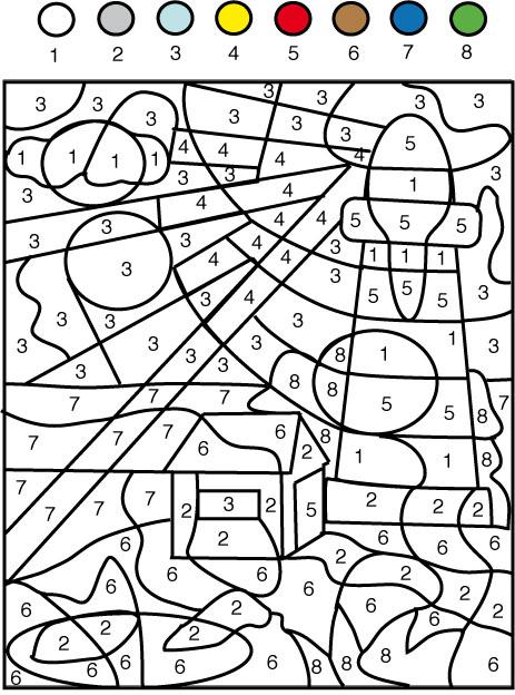 coloriage à dessiner magique de noel à imprimer