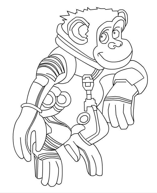 coloriage à dessiner de chimpanzé