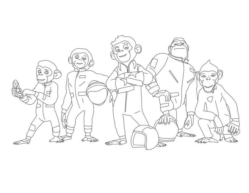 dessin � colorier chimpanz�