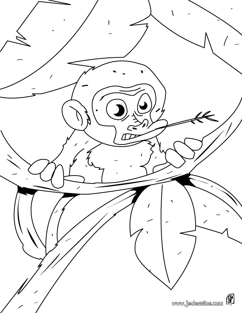 dessin à colorier les chimpanzés de l'espace