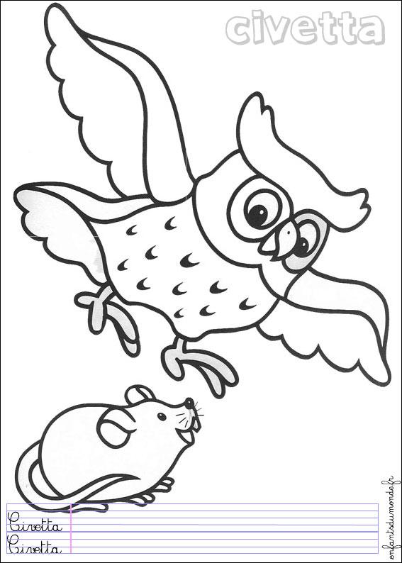 coloriage à dessiner mandala chouette