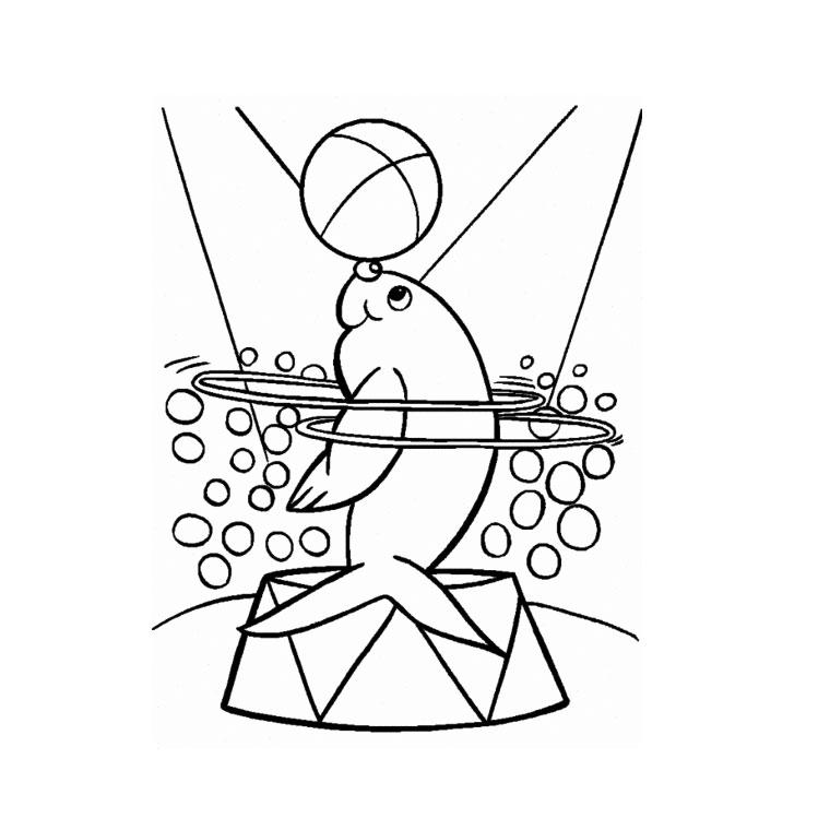 dessin à colorier de cirque chapiteau