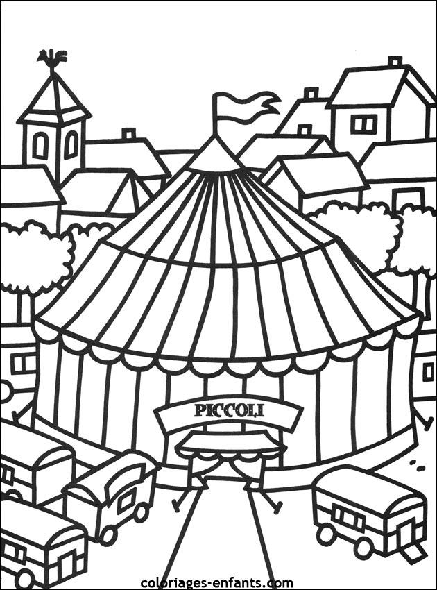 Coloriage Cirque Ps.Dessin Cirque A Imprimer Maternelle