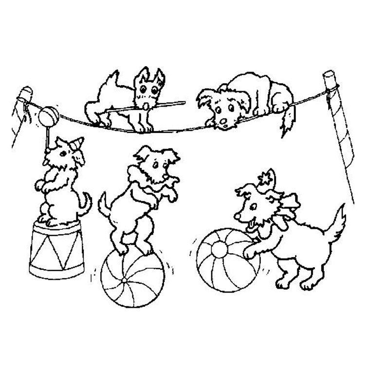 coloriage à dessiner cirque à imprimer gratuit