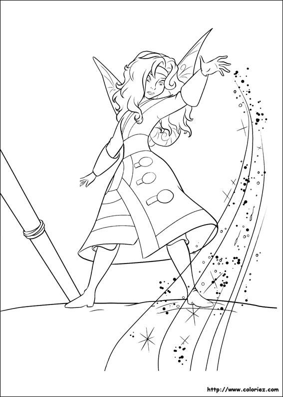 dessin à colorier fée clochette et la fée pirate