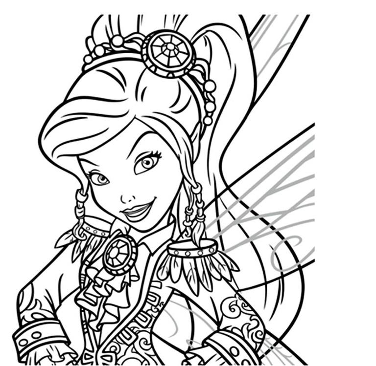 dessin à colorier clochette et la fée pirate zarina