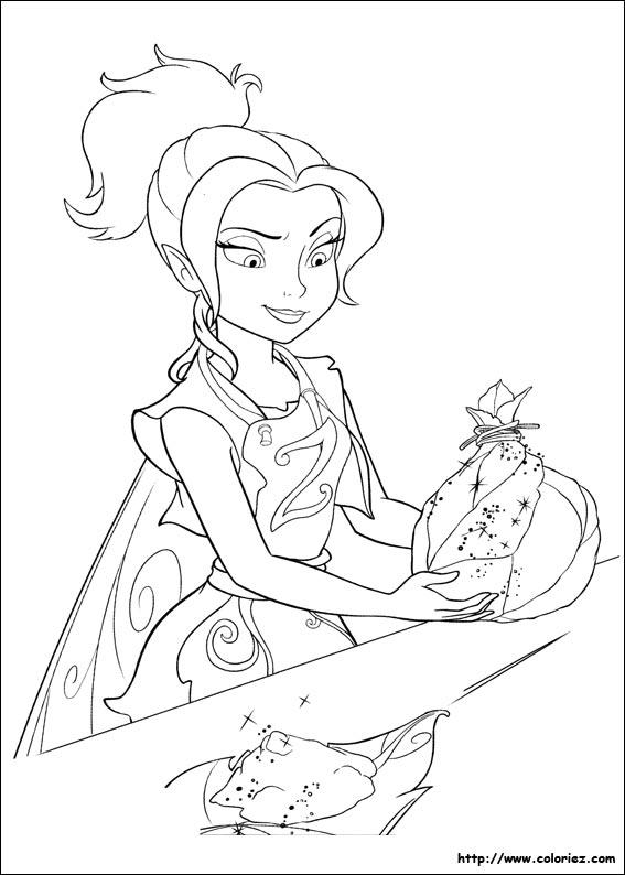 coloriage à dessiner clochette et la fée pirate