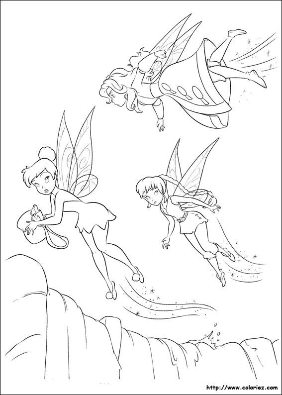 dessin en ligne clochette et la fée pirate