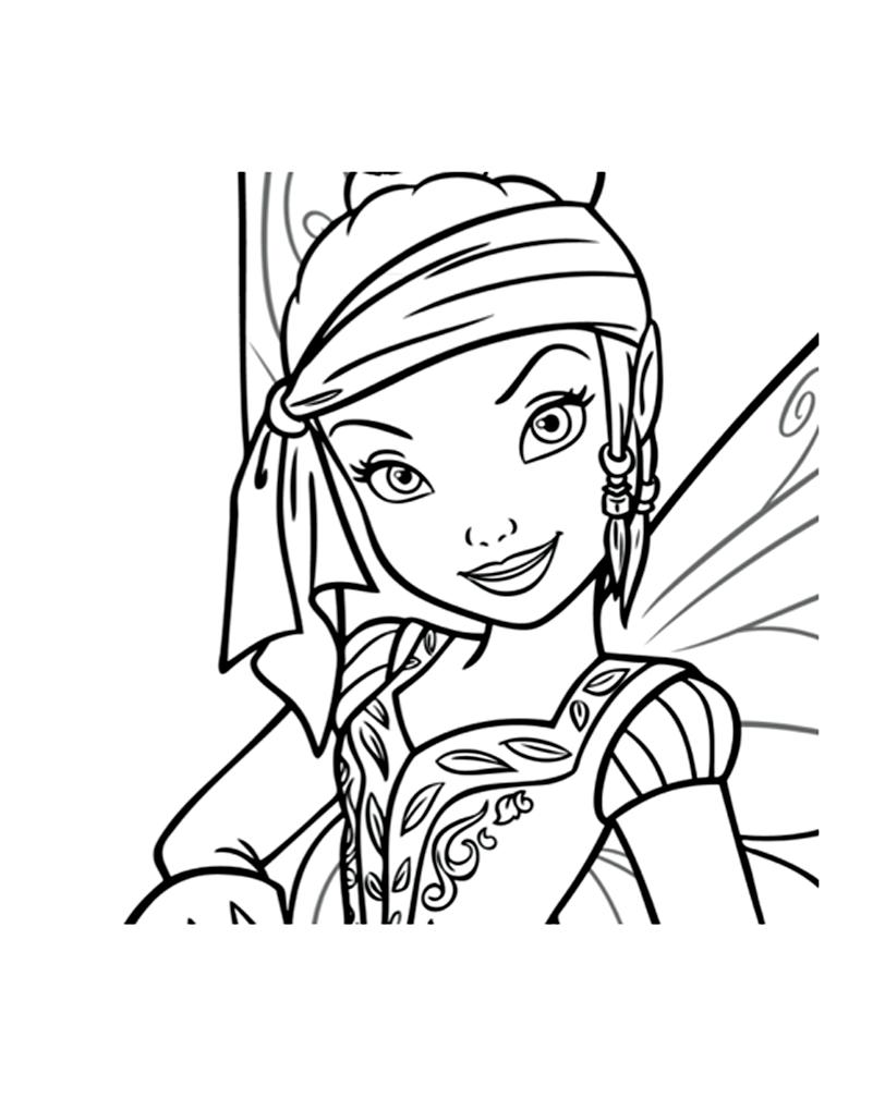 coloriage à dessiner en ligne clochette et la fée pirate