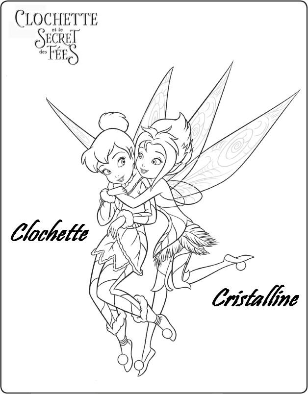 coloriage à dessiner de clochette et le secret des fées