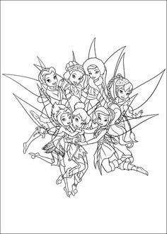 dessin à colorier de clochette et le secret des fées