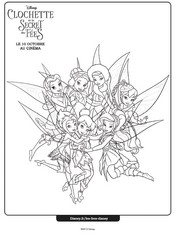 clochette et le tournoi des fées coloriage à dessiner