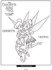 clochette et le tournoi des fées dessin à colorier