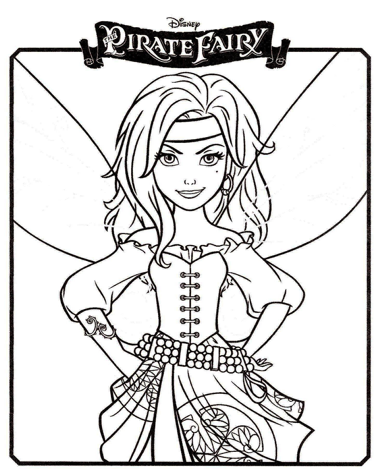 19 dessins de coloriage clochette f e pirate imprimer - Dessin anime de clochette ...
