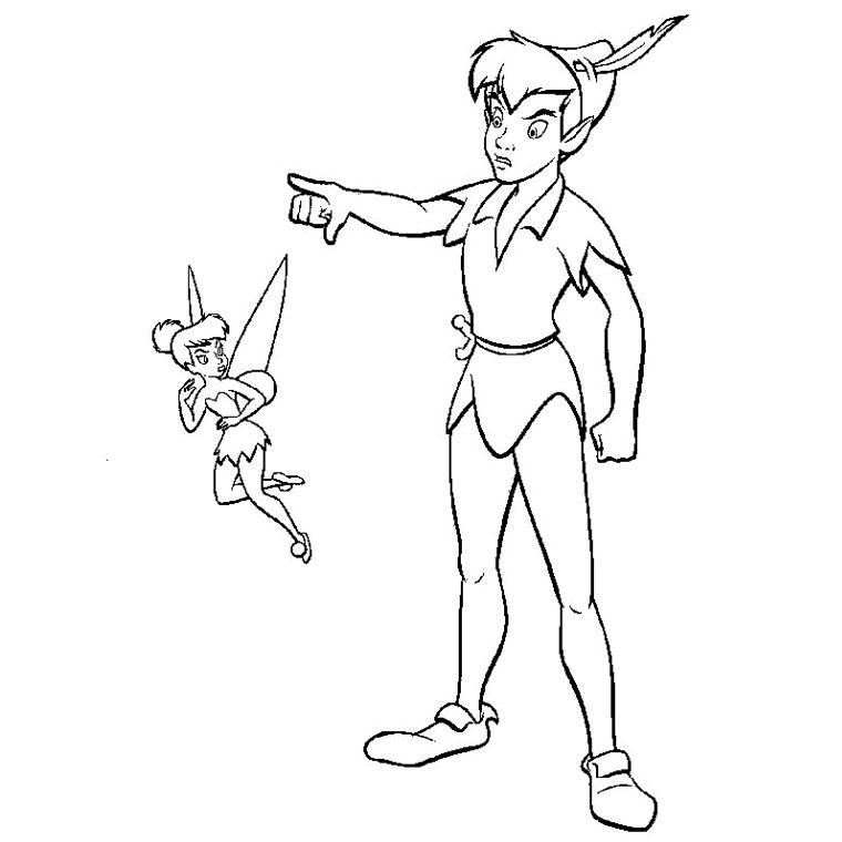 dessin à colorier clochette en ligne
