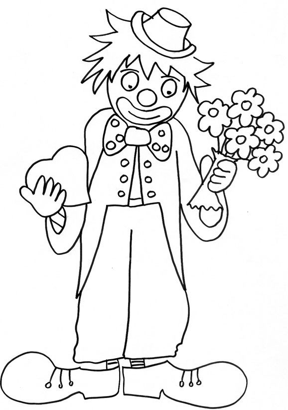 clown coloriage ligne