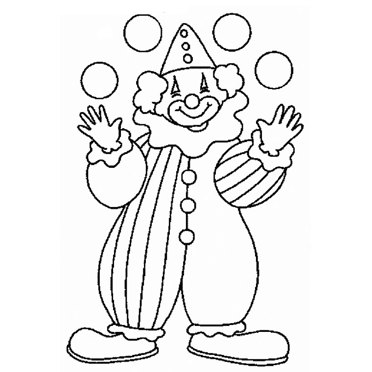 coloriage � dessiner cod� clown