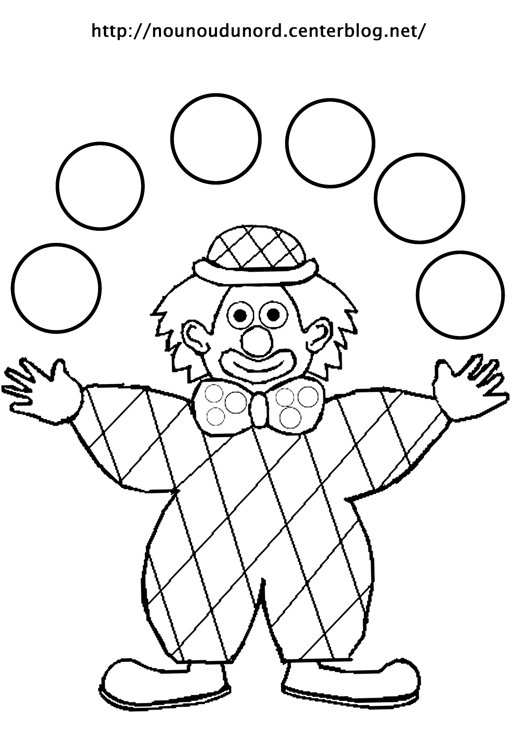 Coloriage De Clown Qui Fait Peur A Imprimer.Dessin A Colorier Baggy Le Clown