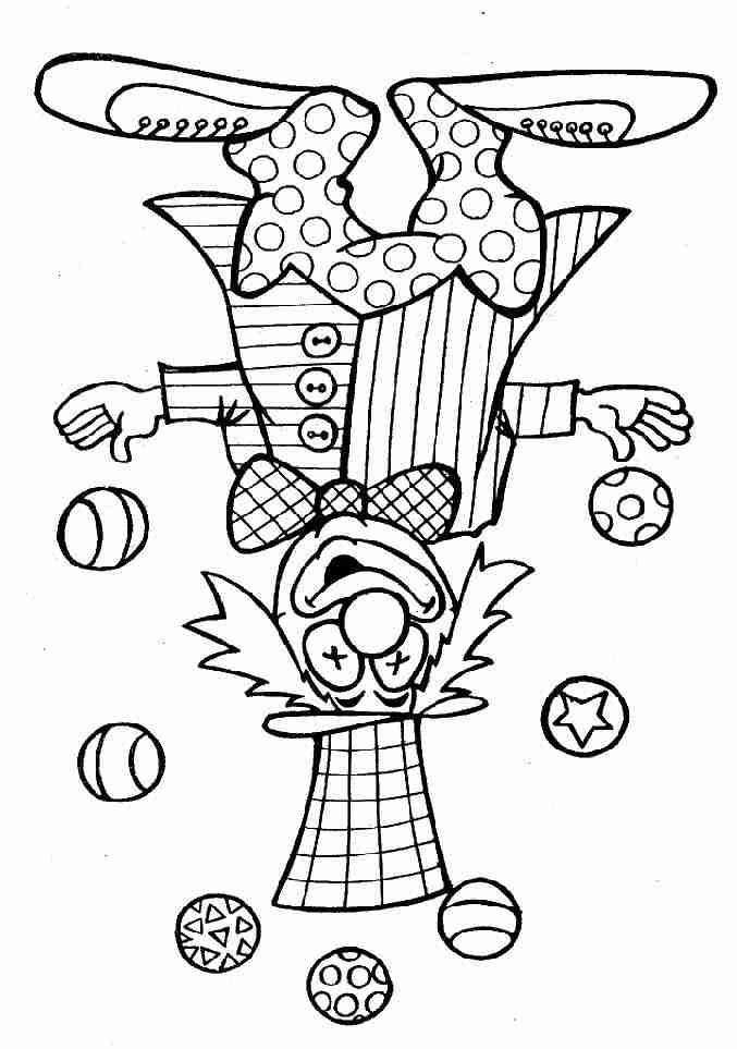 coloriage � dessiner un clown