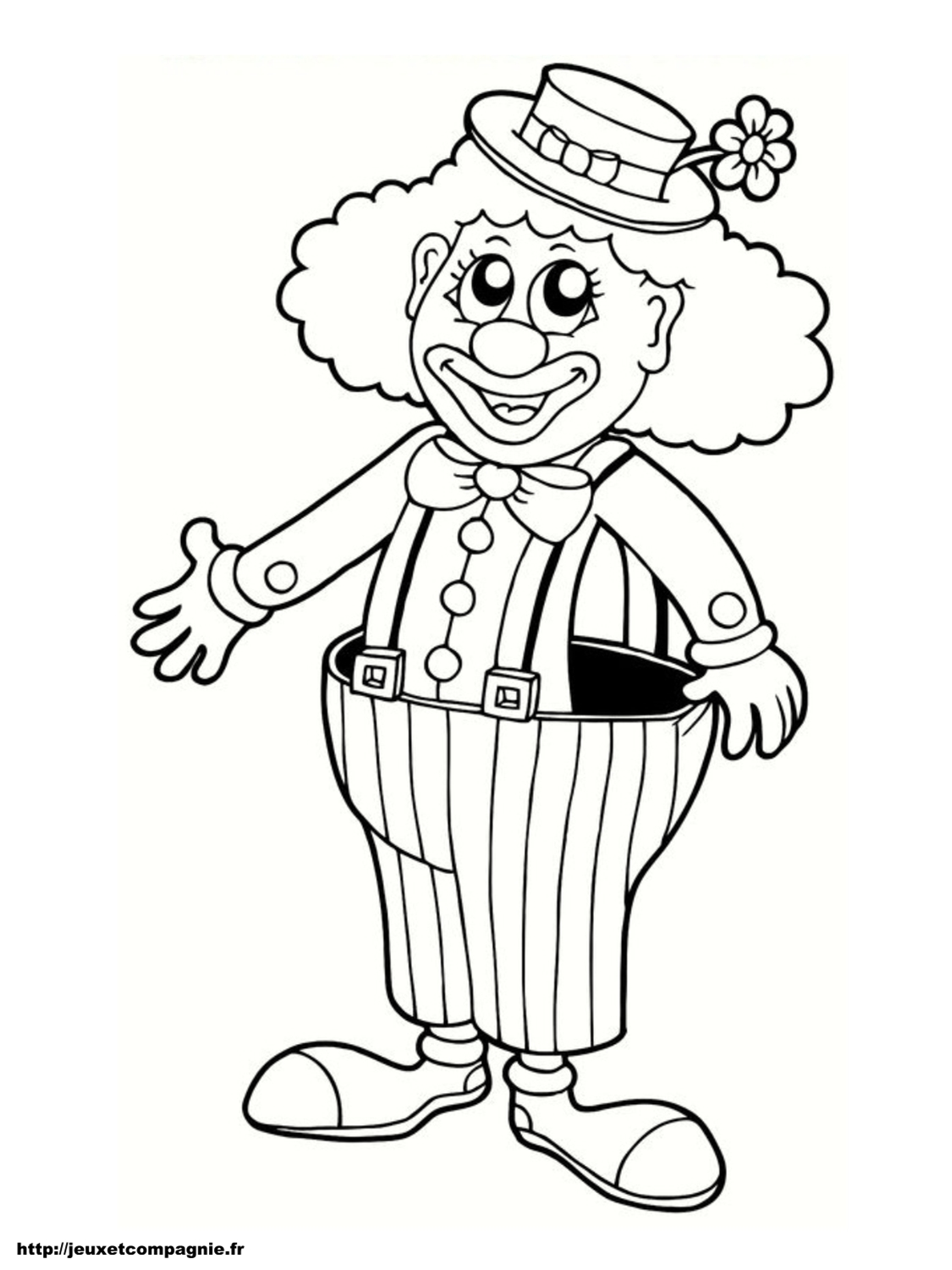 nounougarde coloriage à dessiner clown