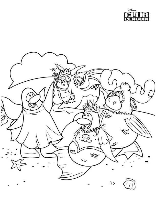 coloriage sensei club penguin