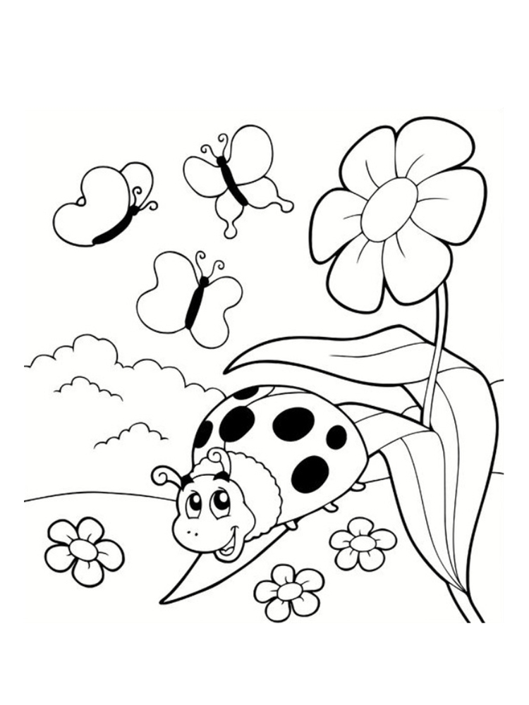99 dessins de coloriage coccinelle maternelle imprimer - Dessin coccinelle ...