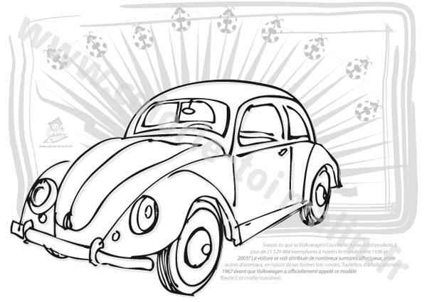 97 dessins de coloriage coccinelle voiture imprimer - Dessin coccinelle vw ...