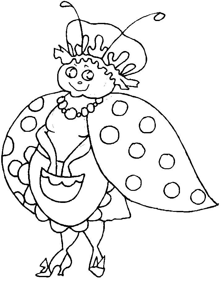 Coloriage Coccinelle Et Papillon.Coloriage A Dessiner Coccinelle Et Papillon