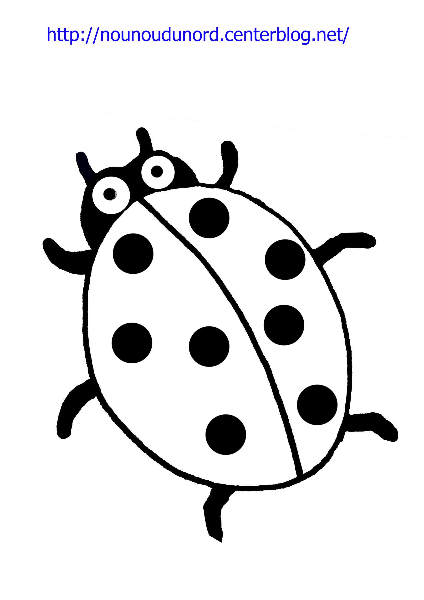 dessin à colorier pet shop coccinelle