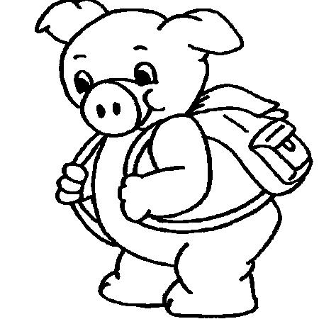 18 dessins de coloriage cochon imprimer imprimer - Dessin des 3 petit cochon ...