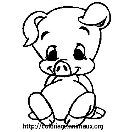20 dessins de coloriage cochon en ligne imprimer - Dessin a imprimer cochon ...